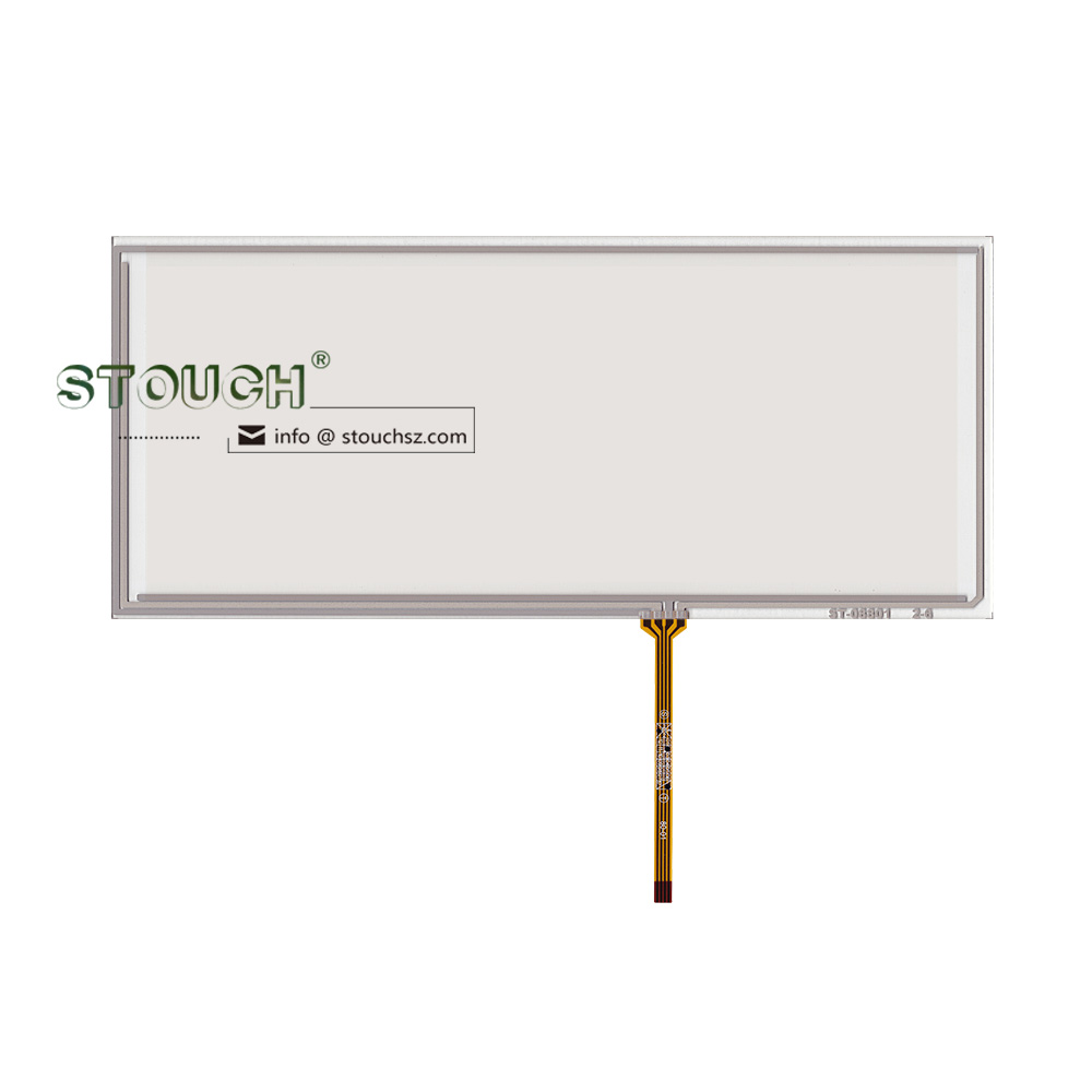 8.8 inch 4 wire resistive touch screen panel with USB or RS232 interface