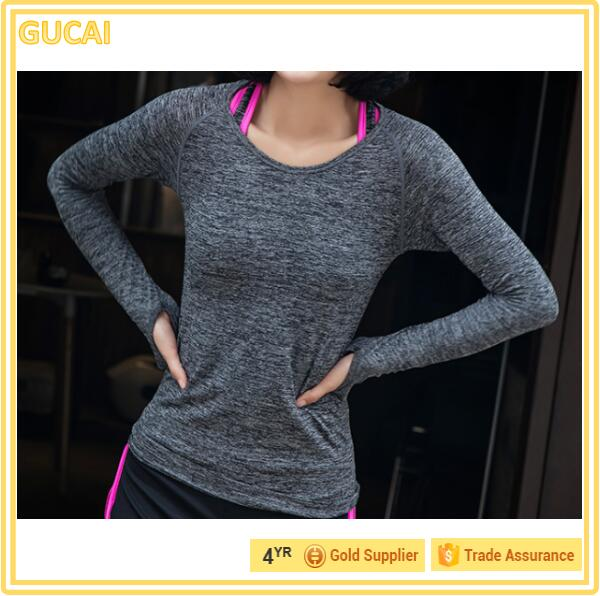High quality long duration time running sleeve t shirt without hooded with best price