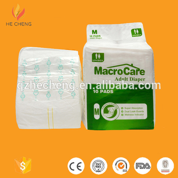 Sample free comfortable thick adult diaper pants