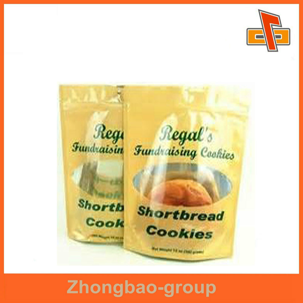 China suppliers custom printed excellent quality zip lock standing plastic bread bag
