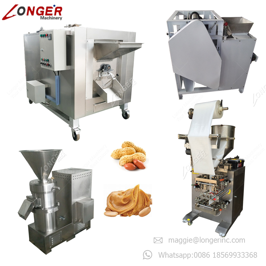 Hot Sale Peanut Butter Processing Machine Groundnut Milling Making Machine Peanut Butter Production Line