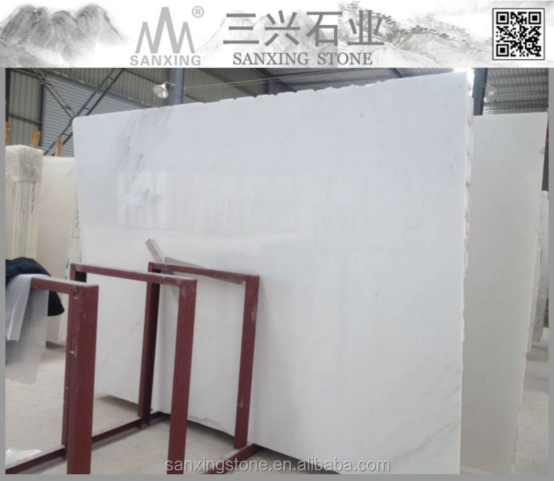 big slab form polshed china white marble slab