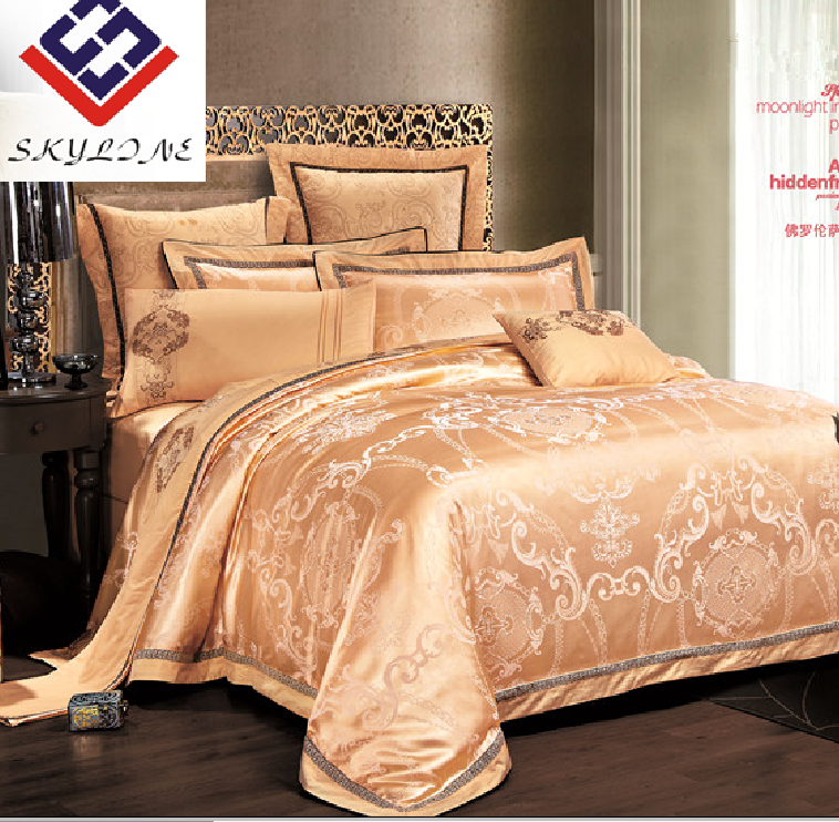 Luxurious polycotton jacquard wedding duvet set bedding for hot selling