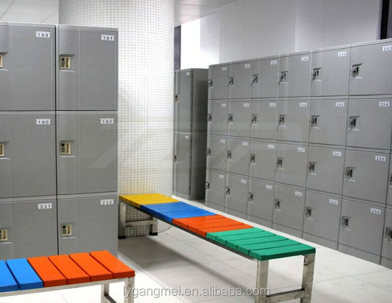 Public changing room ABS plastic sports lockers