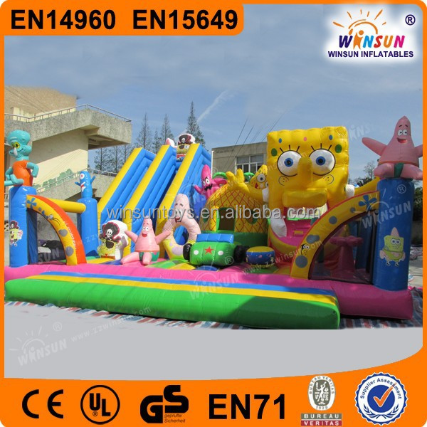 inflatable fun land, square trampoline big bouncer /inflatable land trampoline