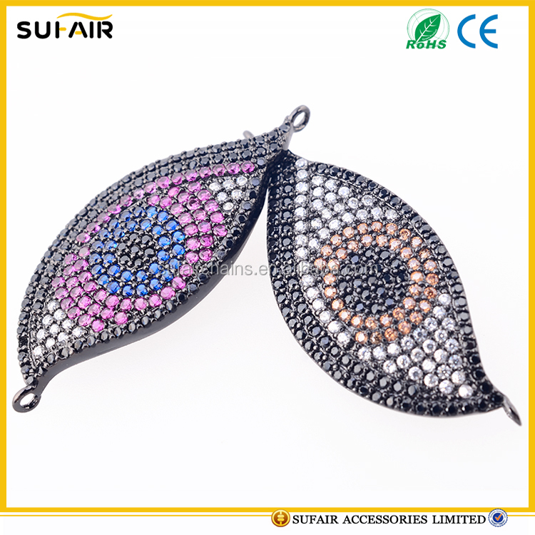 Wholesale evil eye zircon pendant for necklace
