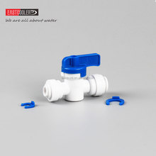 High Quality EF025C-V Eastcooler Plastic Union ball Valve/Shut off Valve/Flush Valve for RO System