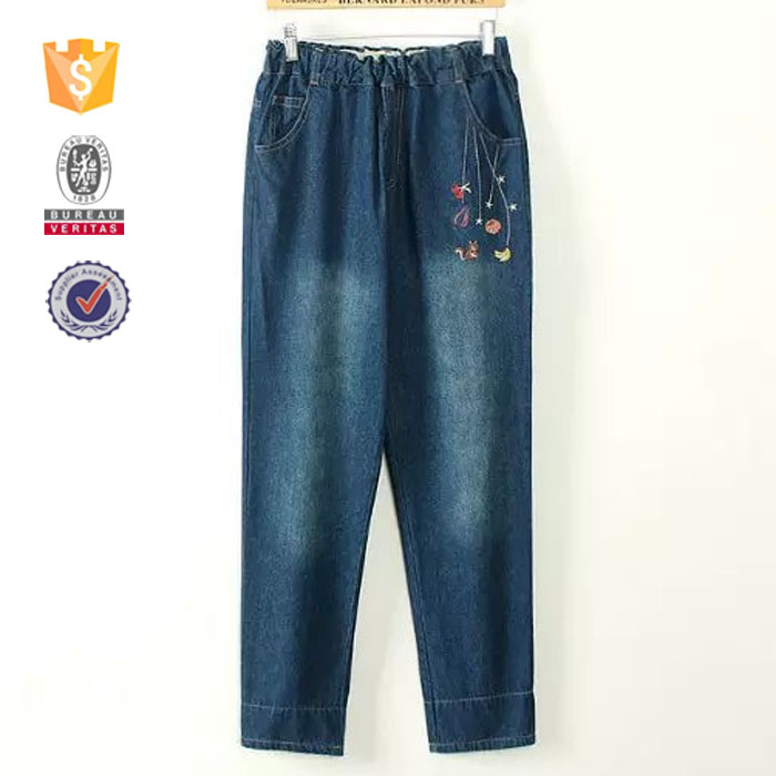 OEM bulk wholesale jeans women denim jeans embroidery pocket design high quailty pants