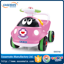 kids pink lady beetle ride on car toy musical car plastic baby sliding walker