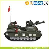 Wholesale battery operated kids car electric ride on tank toy promotional toy truck have music