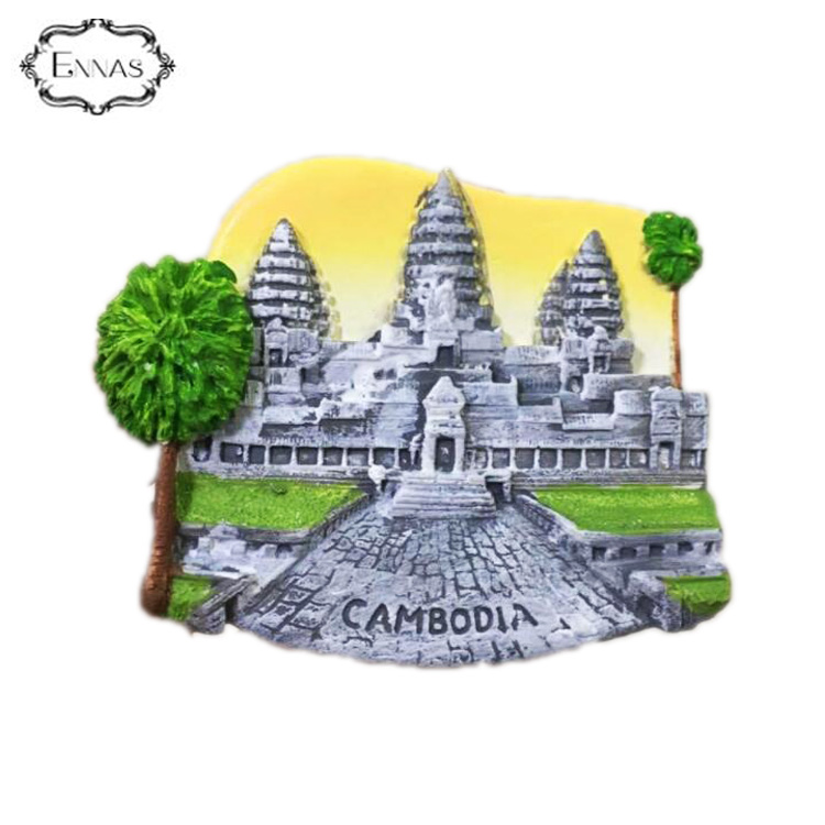 World City Custom Tourist Souvenir 3D Polyresin Fridge Magnets