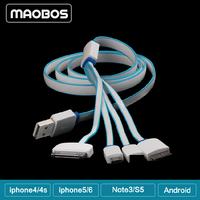 High quality 4 in 1 usb charger cable For Mobile phone iPhone 5s 5 4 4s Iphone6 Samsung Note 3 s5