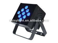 New Item RGBW 4-IN-1 Indoor LED Square PAR Wireless Battery Powered DJ Control Event Light 8w*9pcs