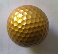 2layer high quality golden golf balls,colored golf ball,gold golf ball manufactory