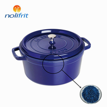 Free sample Majolica cover coat enamel frits for cast iron cookware