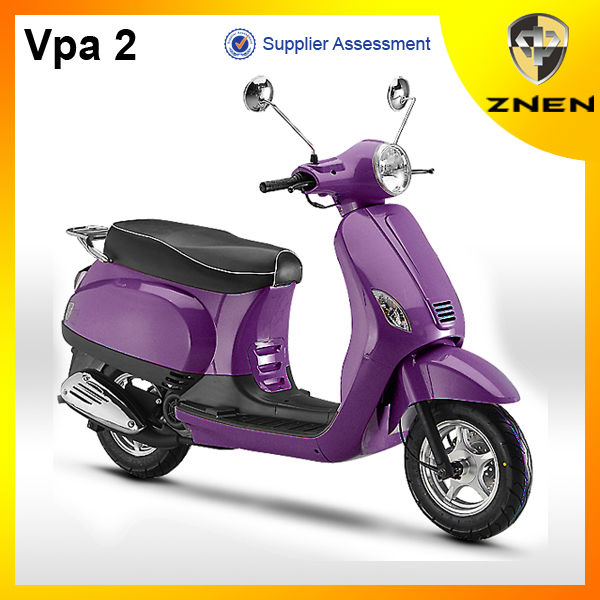 ZNEN Motor 2017 Vpa 2 retro gas scooter 50cc scooter 125cc 150cc with EEC EPA DOT