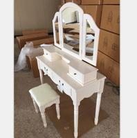 french country bedroom furniture wooden white dressing table with mirror