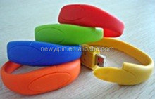 free samples fancy wrist band silicone slap usb