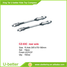 wholesale bicycle 3/8x170-190mm front/rear axle bicycle spindle