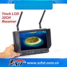 Never blue screen 7inch 5.8GHz 32ch dual receiver diversity LCD monitor for radio control hobby, FatShark compatible