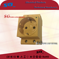 10A/16A plastic nylon MCB modular shape Europe socket with indicator German type din rail socket