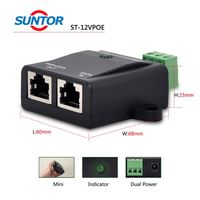Excellent Power Saving 2 ports Outdoor Industrial PoE Switch with RoHS