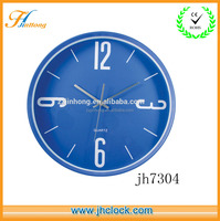 14 inch plastic wall clocks with sliver clock hands and white number