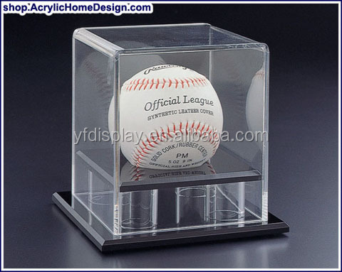 Acrylic Display Box to hold basketball with Clear Cover
