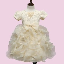 Wholesale <strong>girl's</strong> princess tulle party tutu <strong>dress</strong> popular kids v-neck clothes girls puffy flower <strong>dresses</strong> 2901