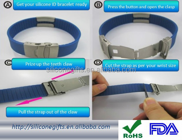 New fashion DIY fitness sports silicone bracelet with customized colorful for kids