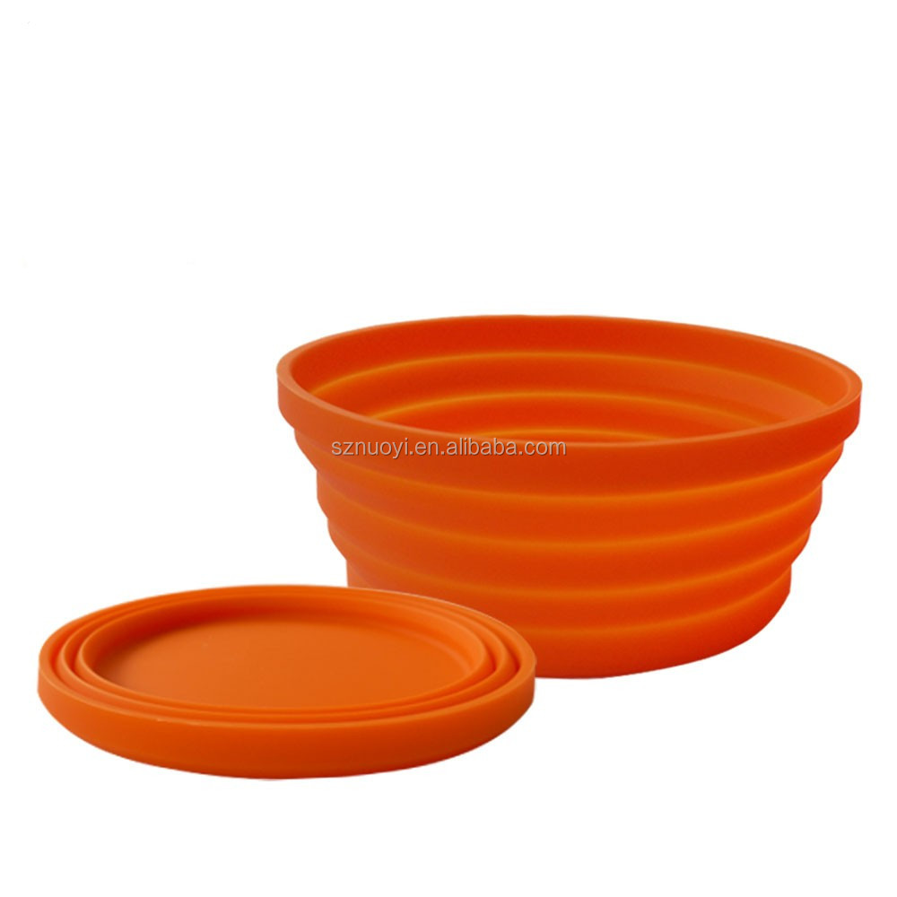 Eco-friendly Food Grade Folding Silicone Dog Bowl