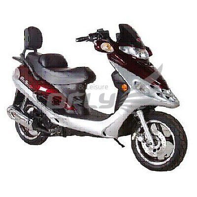 EEC Approved Gas Motor Scooter Equipped with 4 Stoke 125cc Engine MS1281EEC