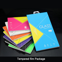Tempered glass screen protector package for iphone/Samsung/Xiaomi with custom design retail package