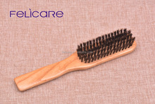 Customized Natural color Oak and boar bristle personalized hair brush