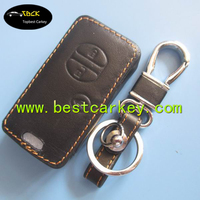 Hot Sale genuine leather car key case for toyota key for toyota key fob case