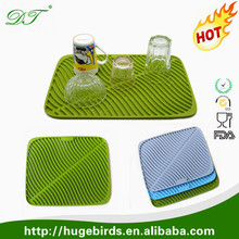 Custom kitchen drainer washing dishes dry rack mats sinks protector pad silicone dish drying mat