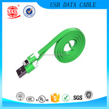 High quality colorful Flat Noodle usb charging data cable for IPHONE 5 6