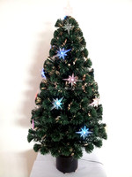 CBRL Fiber Optic Artificial Christmas Tree, Multi-color Tree, Holiday Time Decoration