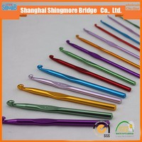 cheap wholesale 2-10 mm aluminium knitting needle set, crochet hook,crochet needle