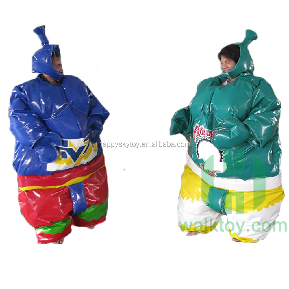 funny inflatable sports, red color inflatable sumo suit, customized foam padded sumo fighting suits