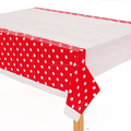 partysupplier Yiwu Wholesale Polka Dots Table Cover Tablecloth POLKA DOT PLASTIC TABLECOVER DECOR TABLECLOTH RED