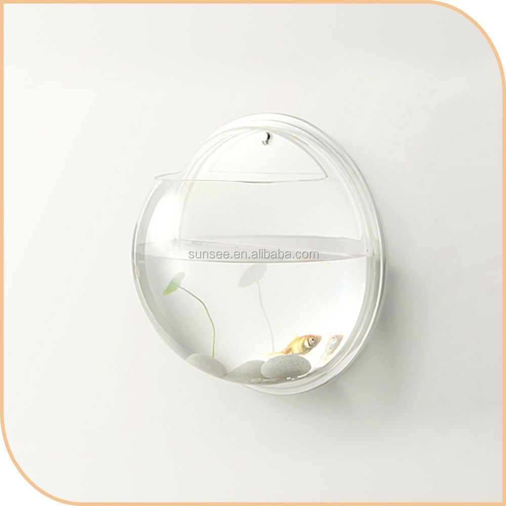 Acrylic aquarium wall mounted acrylic fish bowl led light for Acrylic fish bowl