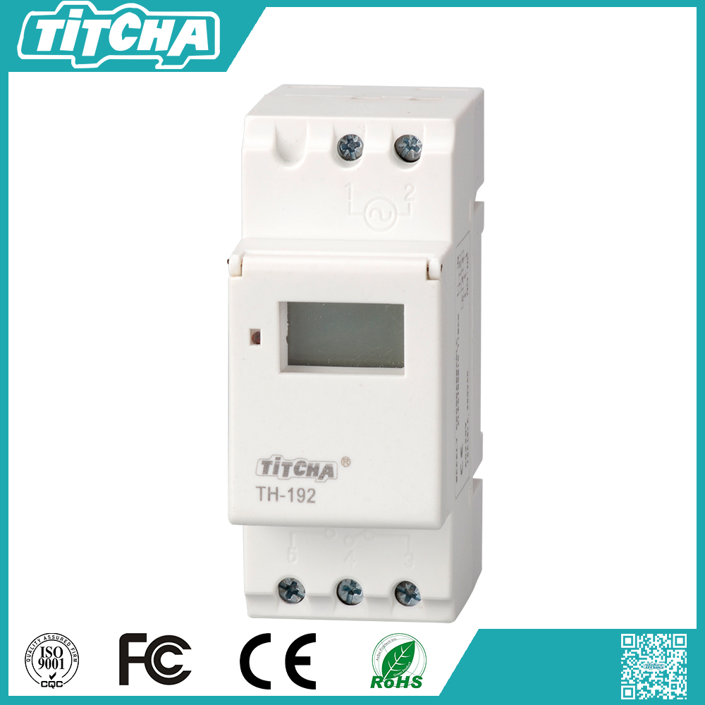 TH-192 time switch 220v programmable digital timer switch relay 220v 16a programmable digital timer switch 12 volt dc