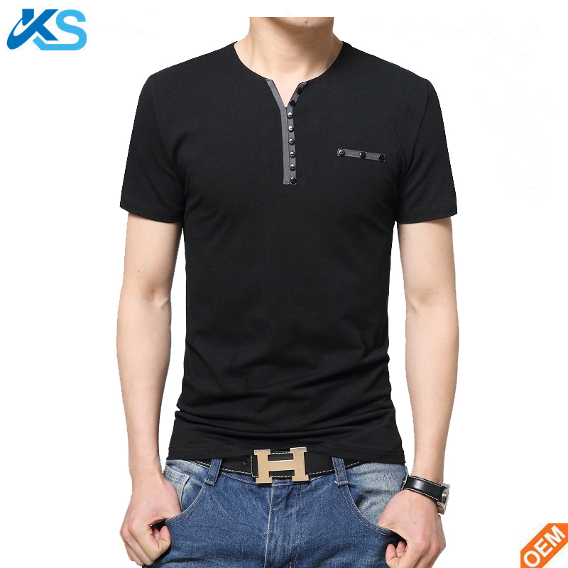 2017 New Fashion Brand Men Clothes Solid Color short Sleeve Slim Fit Men Cotton Tshirt