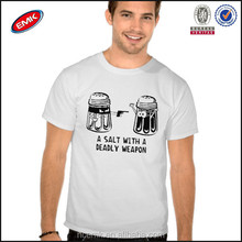 A salt with a deadly weapon print t-shirt for men
