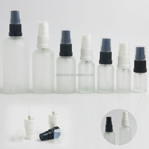 Hot sale 5ml 10ml 15ml 20ml 30ml 50ml 100ml clear frosted cosmetic glass bottle skin care lotion pump bottle