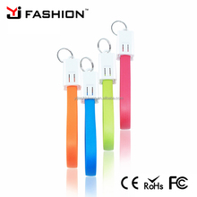 USB Cable Charging Charge Data Sync Cord Key Chain Ring For iPhone 5,6