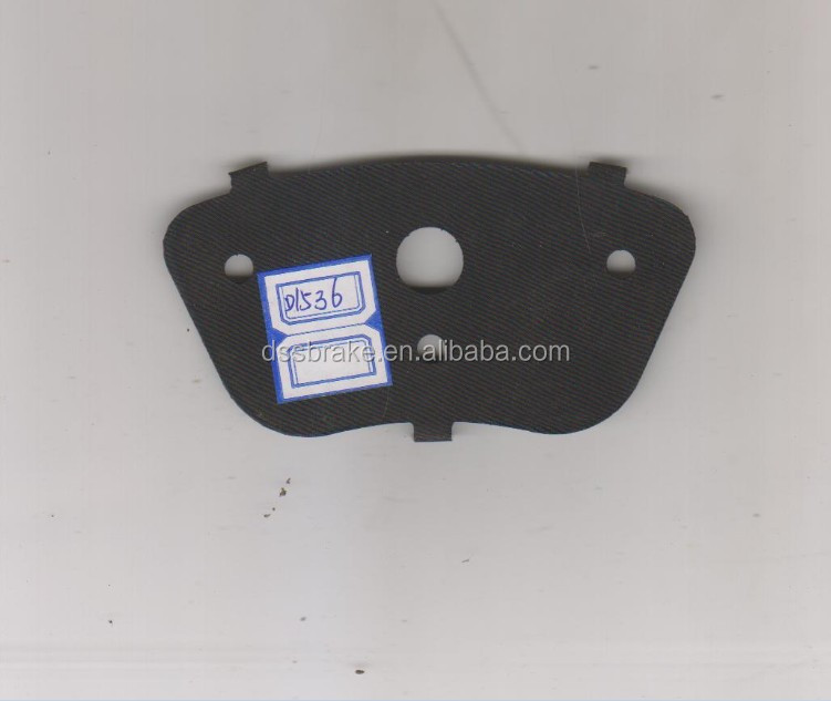 steeled brake pad shim for FIAT brake pad ,no noise