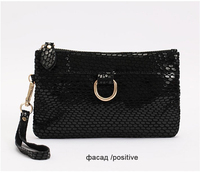 Hot Promotion woman card holder leather fashion snake skin genuine women's purse clutch evening