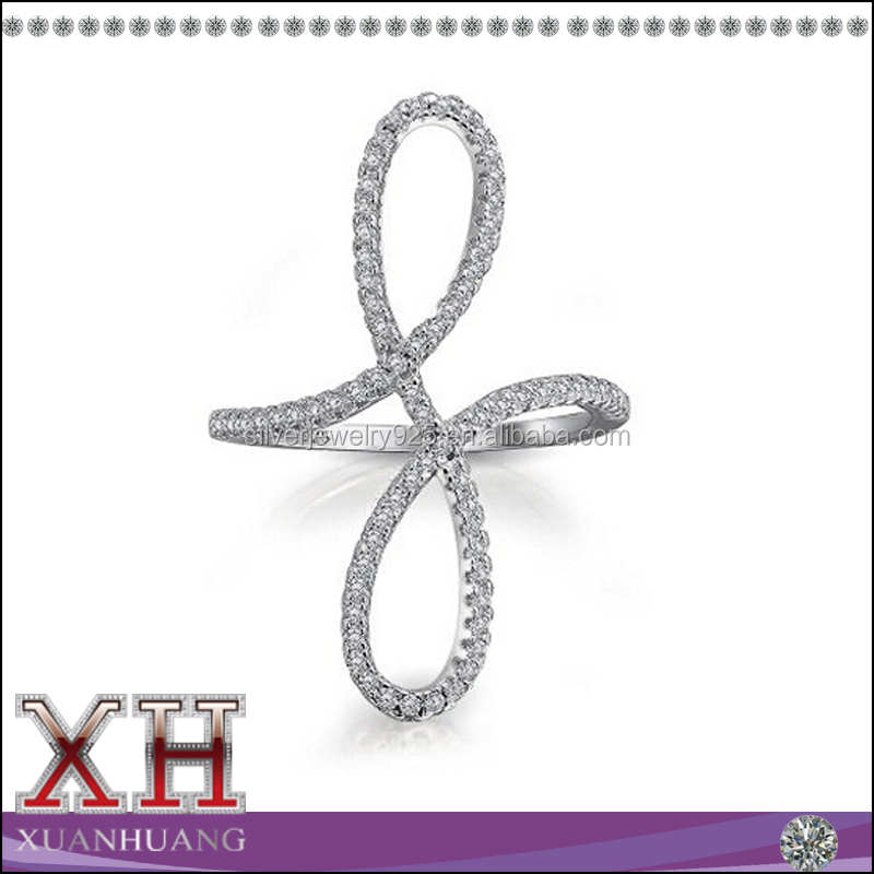 Xuan Huang Jewelry Modern Infinity Ring in Sterling Silver